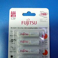 Аккумулятор мини-пальчиковый ААА Fujitsu 1,2V 750mAh eneloop (Ni-MH)