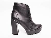 Ботинки из натуральной черной кожи №352-5 (818 идеал), фото 1