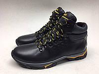 Мужские ботинки ECCO черно-жёлтые