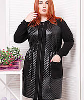 Женское пальто на змейке больших размеров (Монро tn)
