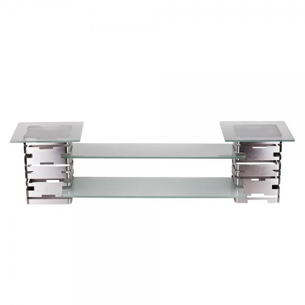 Фуршетная стойка-система 120х30 с прозрачными стеклами PrestoWare