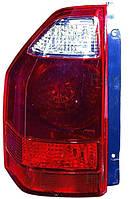 Фонарь задний для Mitsubishi Pajero Wagon 3 03-07 левый (DEPO) темно-красный, на крыле
