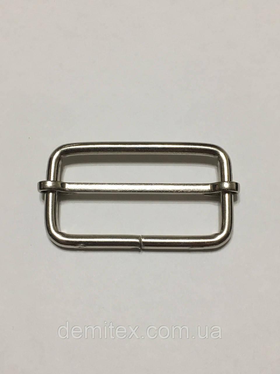 Рамка регулятор Перетяжка 40х20х4мм никель
