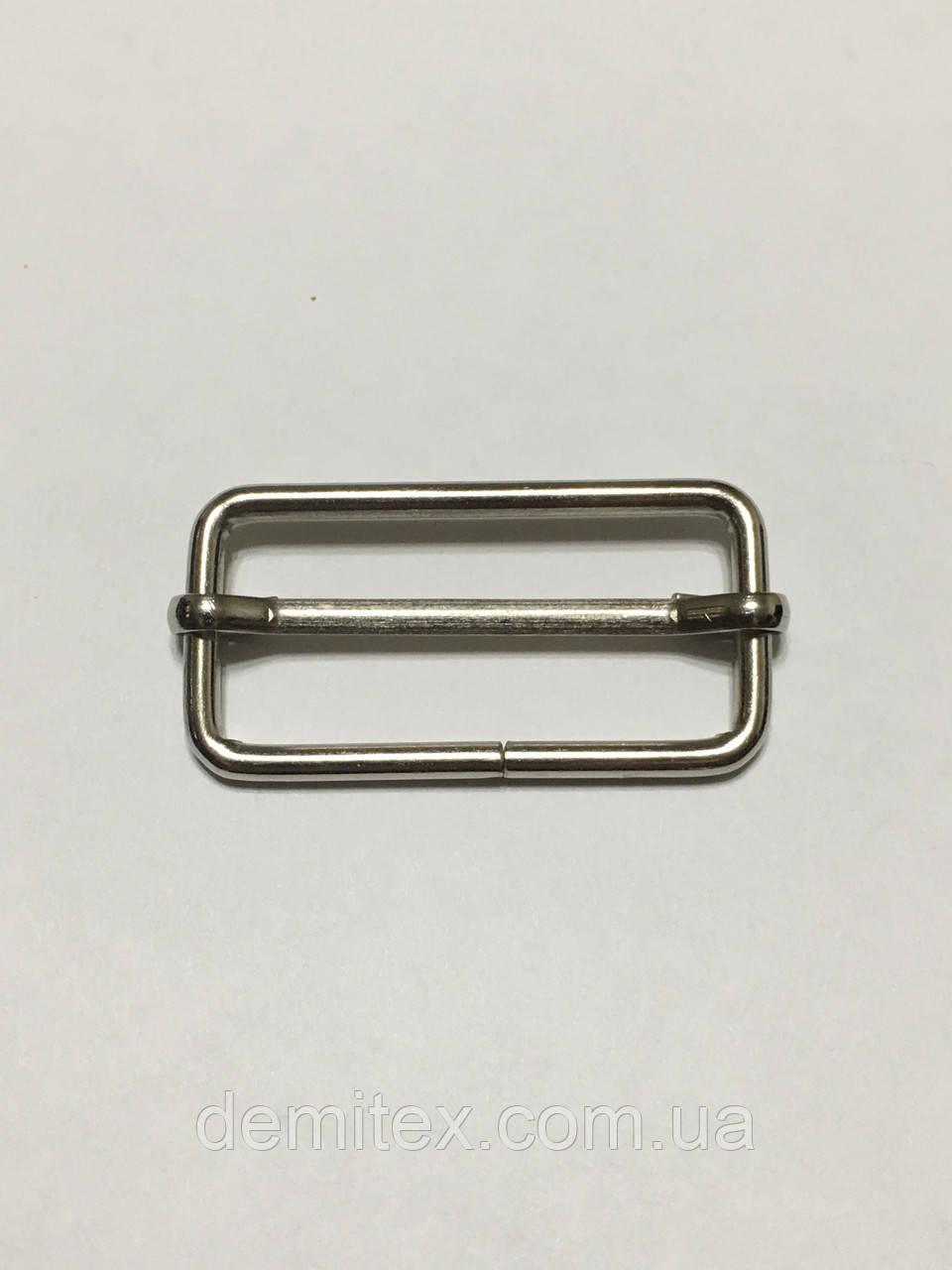 Рамка регулятор Перетяжка 38х17х3мм никель
