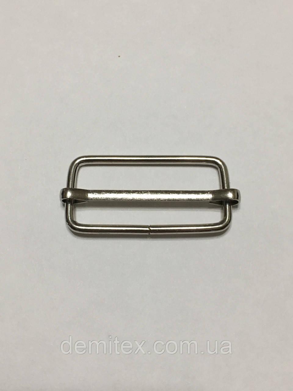 Рамка регулятор Перетяжка 30х14х2мм никель