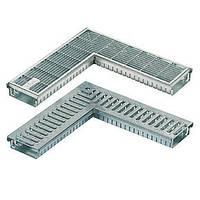Дренажный желоб SitaDrain угловой, со щелевой решеткой из нерж. стали, ширина 150мм, 500х500мм, высота 40мм, фото 1