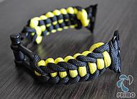 Браслет ремешок Primo Spark Black-Yellow из паракорда для Apple Watch 42mm