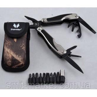 Многофункциональный нож (мультитул) с комплектом бит MT842