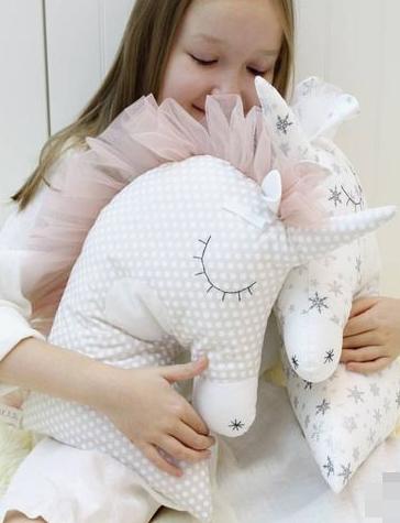 Подушка - іграшка - Единорожка.