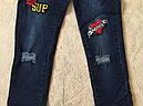 Джинсовые брюки для девочек  GRACE 134-164 р.р., фото 4