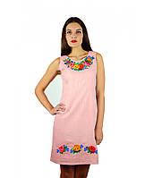 Рожева сукня вишита хрестиком. Плаття вишите хрестиком. Вишита жіноча сукня.  Вишиванки жіночі. 10b0ad6e303fb