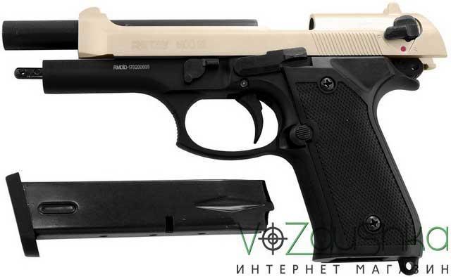 Сигнальный пистолет retay mod 92 satin-black на затворной задержке