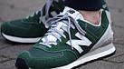 Мужские кроссовки New Balance 574 (Нью Баланс 574) в стиле зеленые, фото 5