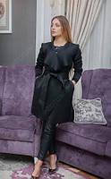 Женское пальто из неопрена Черный