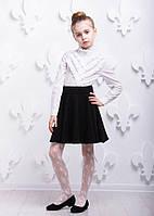 Детская  белая рубашка P1005-1 школьная для девочки 6 лет (р. 116!, 100% хлопок) ТМ ОКП Белый