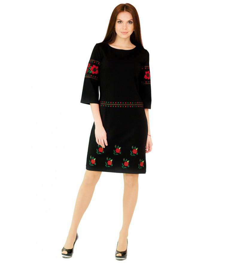 Платье вышитое. Черное платье. Платье вышивка. Украинские платья. Платье  вышиванка. - 04e5b4aca1da3
