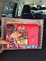 Женская мини-сумочка Furla Metropolis красная с принтом