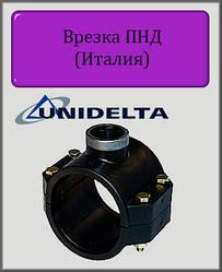 """Хомут для врезки Unidelta 63х1"""" PN10 ПНД"""