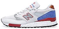 """Мужские кроссовки New Balance 998 """"National Parks"""" White/Grey (Нью Баланс) серые/белые"""