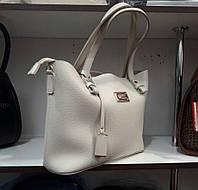 Женская белая мягкая сумка