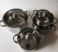 Набор кастрюль из нержавеющей стали (4шт.), фото 1