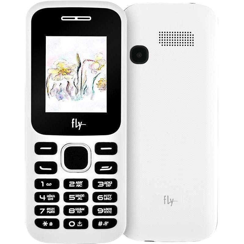 Телефон кнопочный Fly FF178 белый