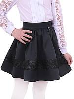 Школьная юбка для девочки Дженифер, черный (р.122,128,134,140)