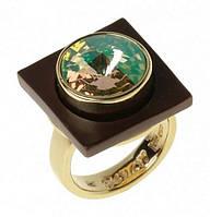 """Кольцо """"Моаби"""" с кристаллами Swarovski, покрытое золотом (r735p023)"""