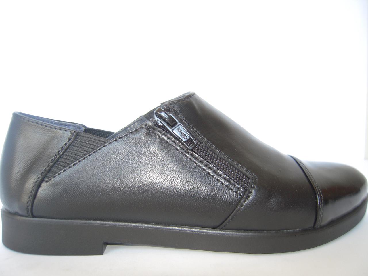 Женские кожаные туфли на низком ходу - Интернет-магазин Verica  стильная кожаная  обувь оптом 90079953b21