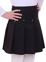 Школьная юбка для девочки Линда, синий (р.128)