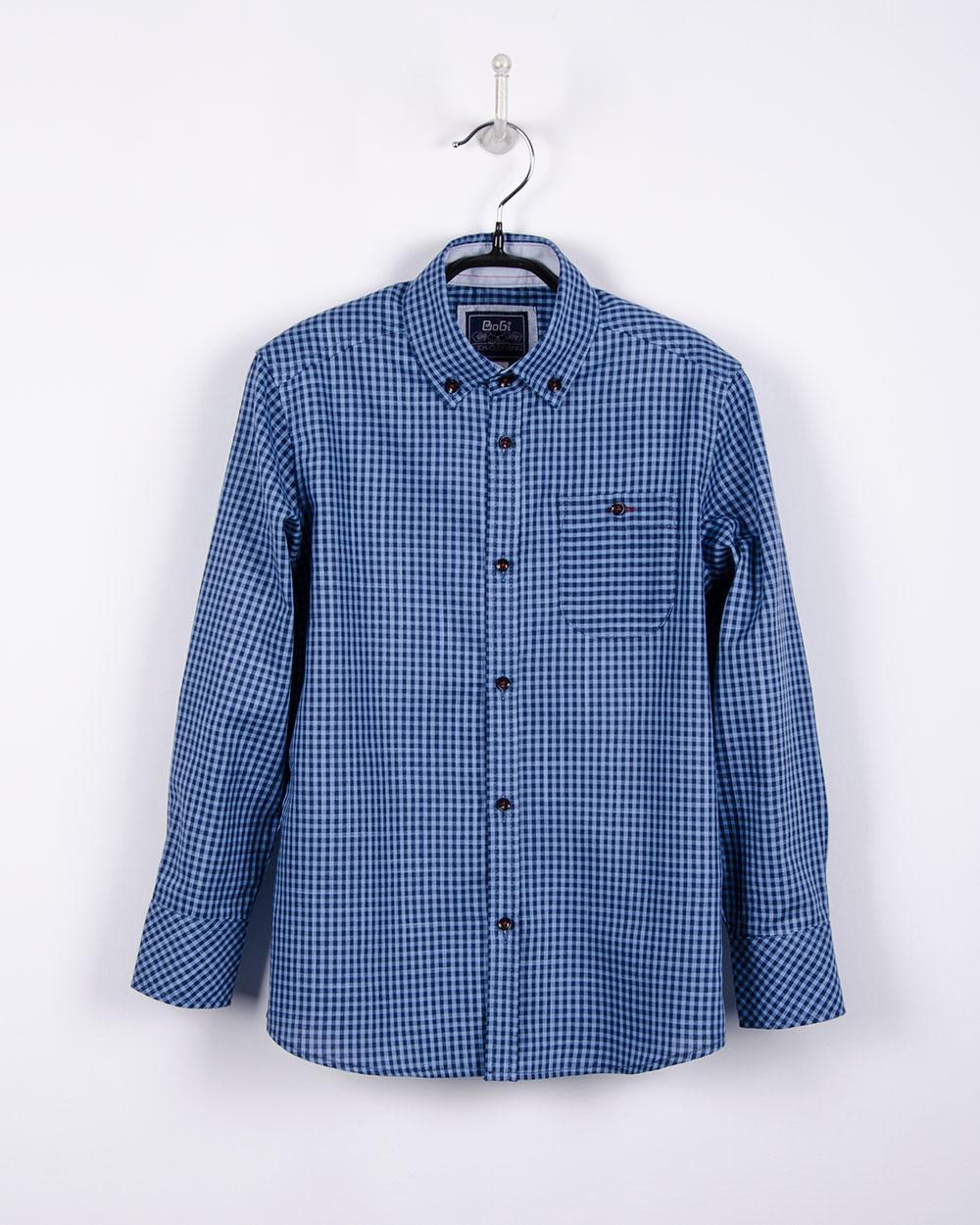 Рубашка в клетку для мальчика (р.134/140)
