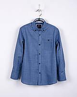 Рубашка в клетку для мальчика (р.134/140), фото 1