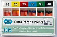 Gutta percha points № 15-40 06 HTM (штифты гуттаперчивые № 15-40 конусность 06)