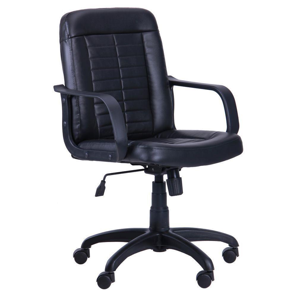 Кресло Нота Пластик Флекс-кожа черная Лайт (AMF-ТМ)