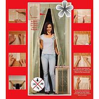 Дверная Антимоскитная шторка на сплошном магните Разные цвета Magic Mesh шторы магнитные сетка 210х90 см