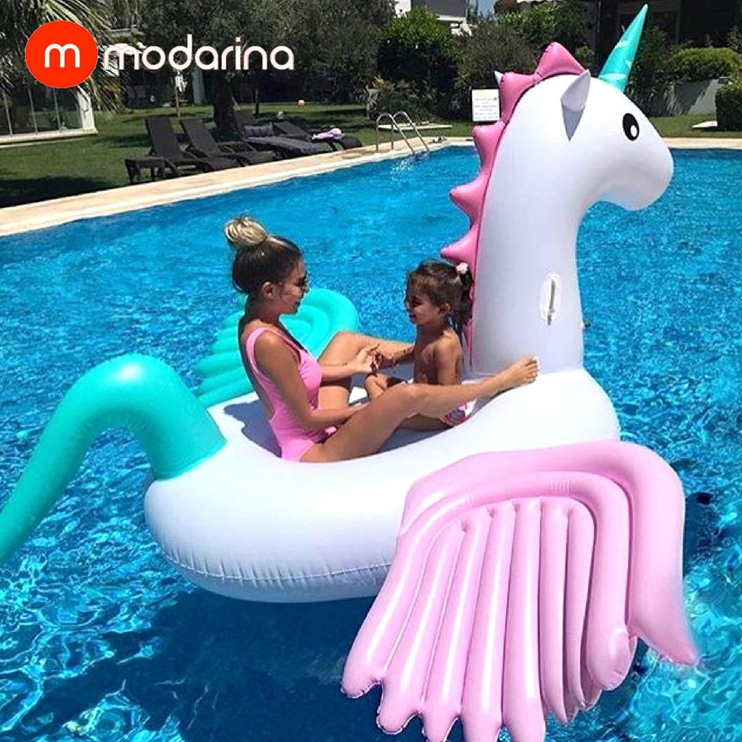 Modarina Надувной матрас Единорог с разноцветными крыльями ...