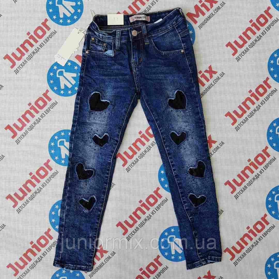 Подростковые джинсы для девочек в сердечки оптом Dream Girl