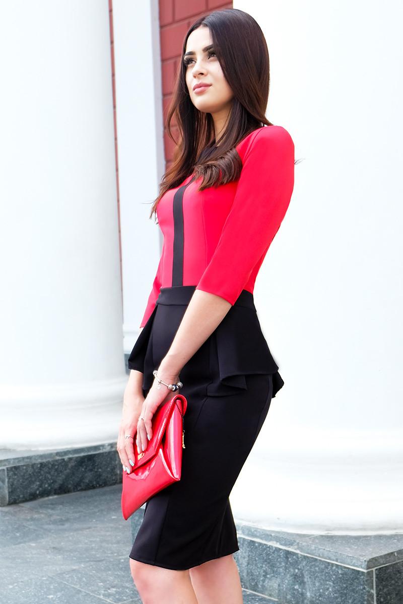 """Платье офисное """"Биатрис"""", красное"""