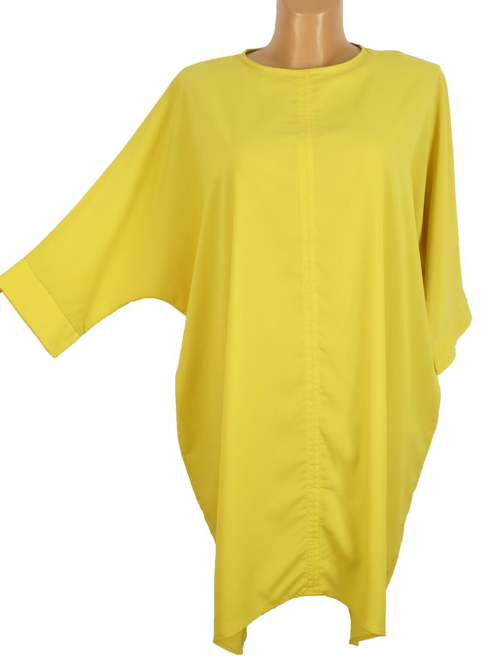 Туника-платье из плотного шифона (в расцветках)