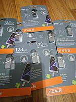 OTG флешка duo link PNY usb 3.0 flash 128 gb micro usb