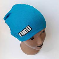 Детская трикотажная шапка двойная  р 46-48 оптом