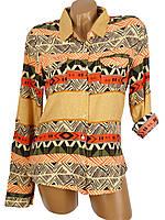 Оригинальная женская рубашка с орнаментом