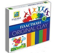 Пластилин 12 цветов, Луч Украина, Классика, 240 грамм, Мицар, Ц259021у, 685835
