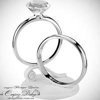 Топпер кольца с большим бриллиантом для свадебного торта, фото 1