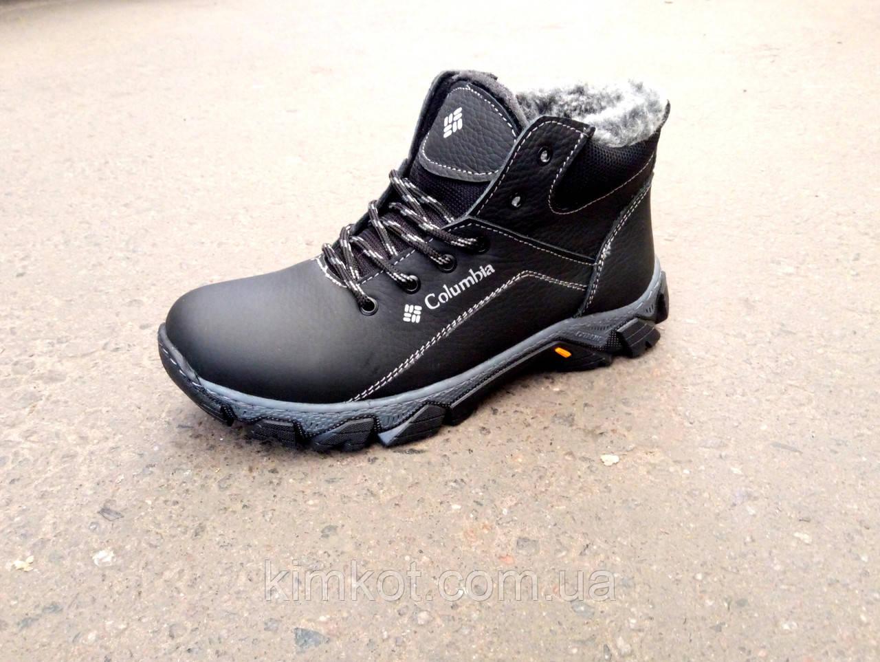 Кожаные зимние ботинки подросток 35-39 - Интернет-Магазин