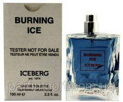 Iceberg Burning Ice men EDT 100 ml TESTER туалетная вода мужская (оригинал подлинник  Италия)