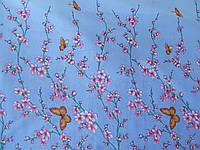 Полиэстер Китай Бабочки На Синем
