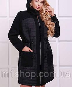 Женское пальто на змейке с капюшоном (Нораtn)