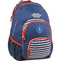 Рюкзак Kite K15-809-2L Take'n'Go-2 синий школьный подростковый для девочек, отделения для ноутбука, органайзер