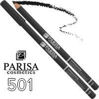 Parisa - Карандаш для глаз Professional Ultra Long Lasting Тон 501 black матовый